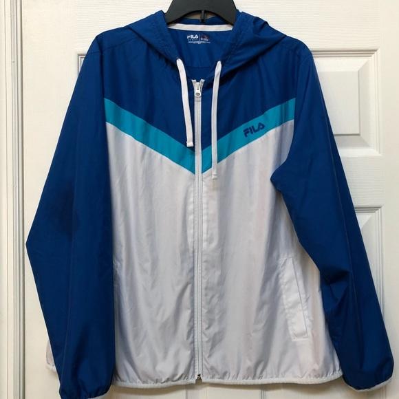 a03b5562b588 Fila Jackets & Blazers - FILA SPORT Womens Tricolor Windbreaker jacket XL